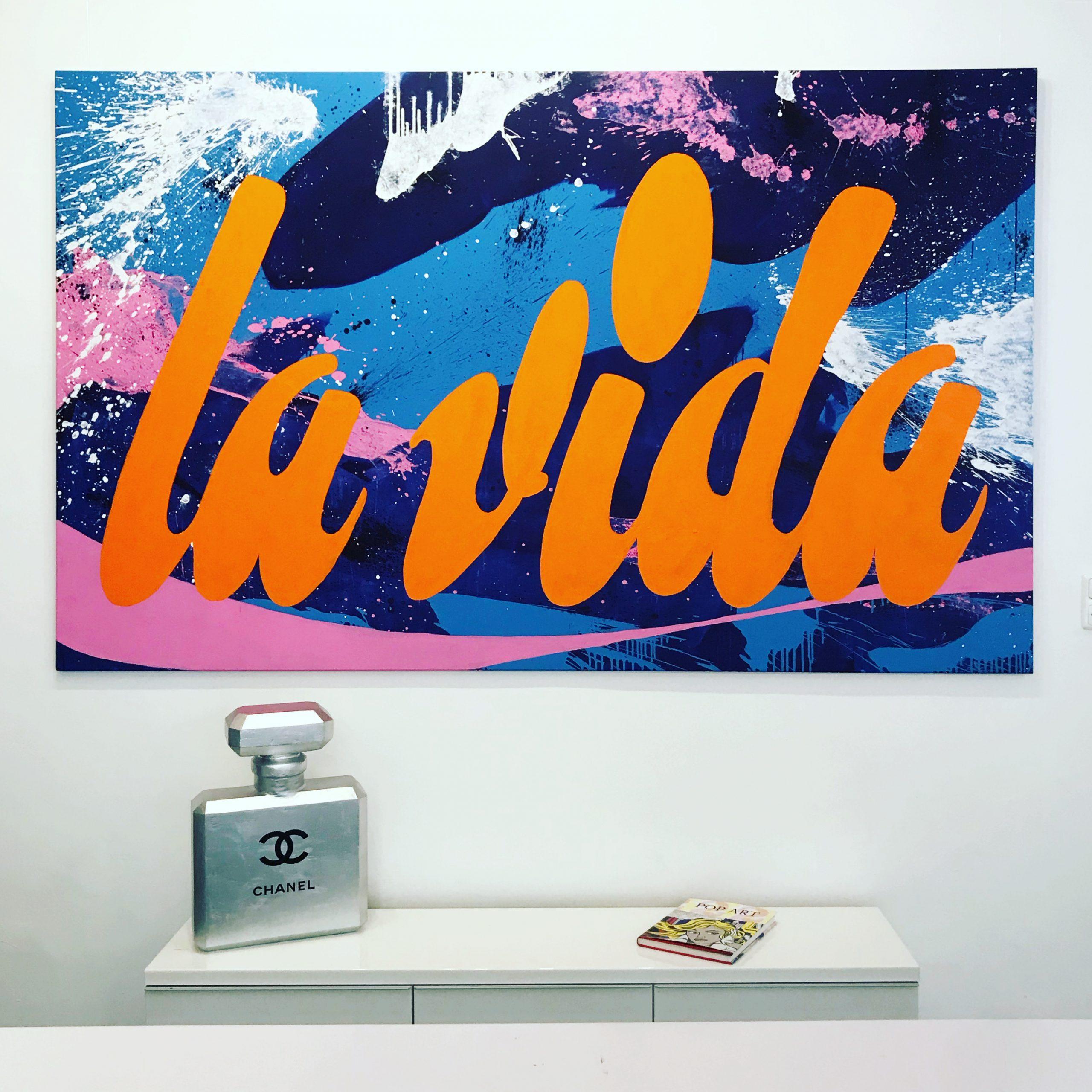 """Titel: """"la vida"""" 260*160cm Sascha Dahl"""